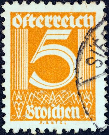 AUSTRIA - CIRCA 1925: A stamp printed in Austria shows numeric value, circa 1925.  Stock Photo - 18739943