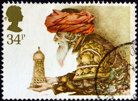 UNITED KINGDOM - CIRCA 1984: A stamp printed in United Kingdom from the Christmas issue shows the offering of frankincense, circa 1984.