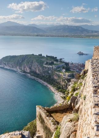 View from Palamidi fortress, Nafplio, Greece photo