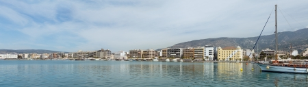 thessaly: Panorama of Volos waterfront, Thessaly, Greece Stock Photo