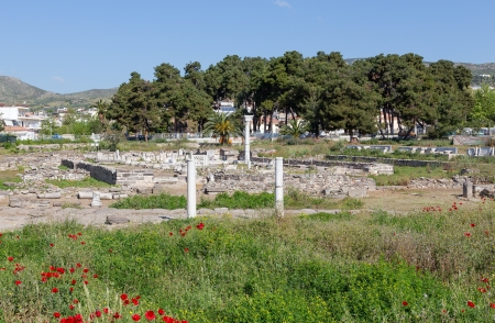 thebes: Ruins of Phthiotic Thebes in Nea Anchialos, Thessaly, Greece