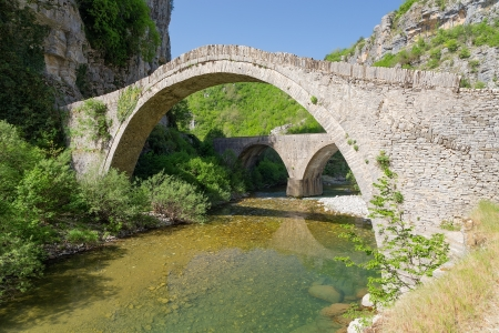 Old stone bridge of Noutsos  built 1750 AD , Epirus, Greece photo