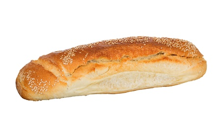 Bread loaf with sesame isolated photo
