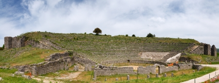 Panorama of Dodoni ancient theatre, Epirus, Greece photo