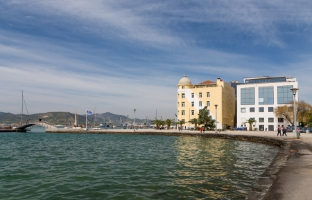 magnesia: Volos city waterfront, Thessaly, Greece Stock Photo