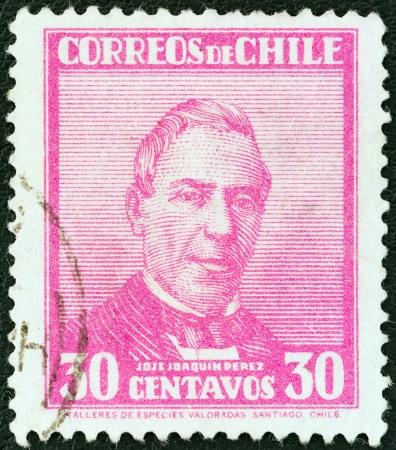 CHILE - CIRCA 1931: A stamp printed in Chile shows Jose Joaquin Perez, circa 1931.  Stock Photo - 20120996
