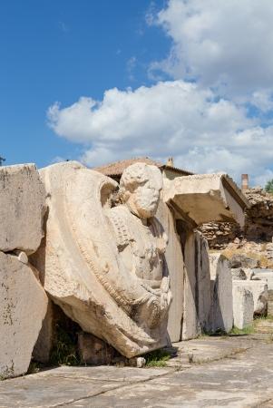 Sculpture in the archaelogical site of Eleusis, Attica, Greece photo