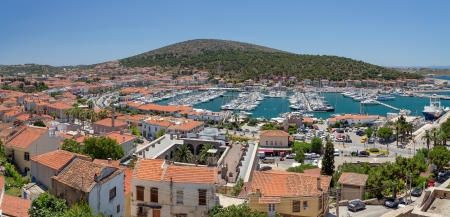 Panoramic view of Cesme, Turkey photo