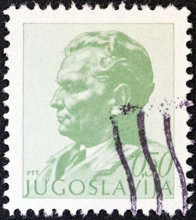 YUGOSLAVIA - CIRCA 1974: A stamp printed in Yugoslavia shows President Tito, circa 1974.  Stock Photo - 20804713