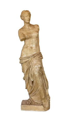 aphrodite: Venus de Milo statue isolated