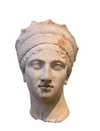 empress: Empress Plautina head, wife of Roman Emperor Trajan