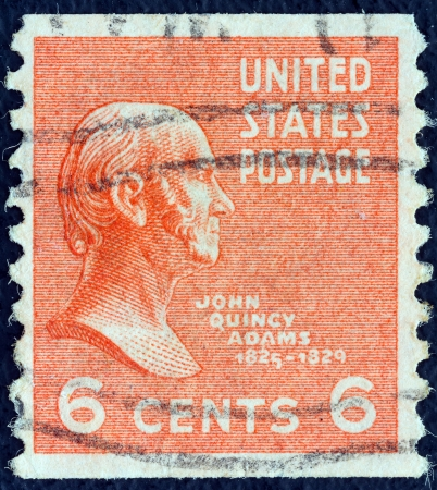 adams: USA - CIRCA 1938  A stamp printed in USA from the  Presidents  issue shows John Quincy Adams, circa 1938