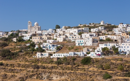kyklades: The picturesque village of Tripiti, Milos island, Cyclades, Greece Stock Photo