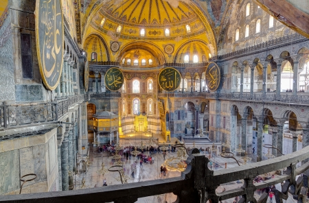 Hagia Sophia interior, Istanbul, Turkey Stock Photo - 21457407