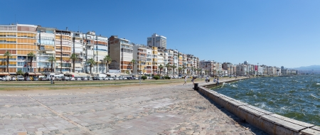 Panoramic view of Izmir waterfront, Turkey Фото со стока