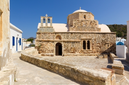 kyklades: Ag  Ioannis Chrysostomos church, Kimolos island, Cyclades, Greece