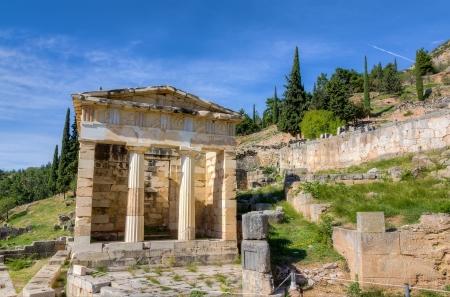 delfi: Athenian treasury, Delphi, Greece