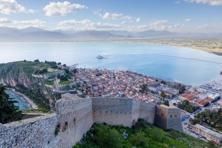 Nafplio view, Peloponnese, Greece photo
