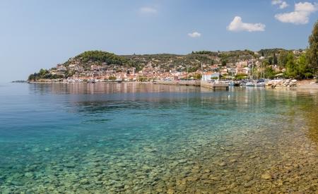 Limni 村、ユービア島, ギリシャ 写真素材