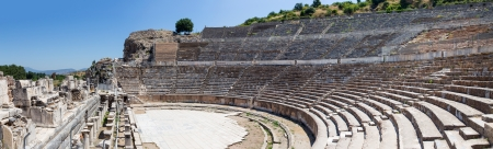 Panorama of the Great Theatre of Ephesus, Turkey photo