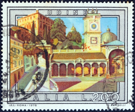 TALY - CIRCA 1978  A stamp printed in Italy from the  Tourist Publicity  5th series   issue shows Udine, circa 1978