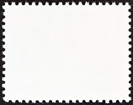 Reverse side of a postage stamp photo