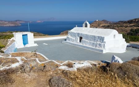 kyklades: Panagia Tourliani chapel, Milos island, Cyclades, Greece