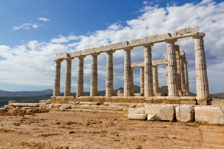 Poseidon temple, Sounio, Greece  photo