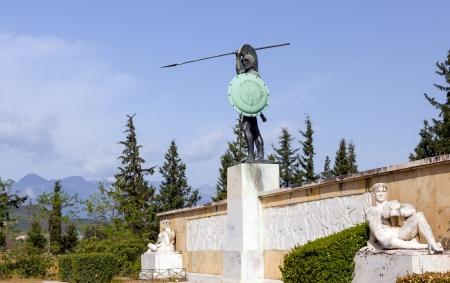 Leonidas monument, Thermopylae, Greece  photo