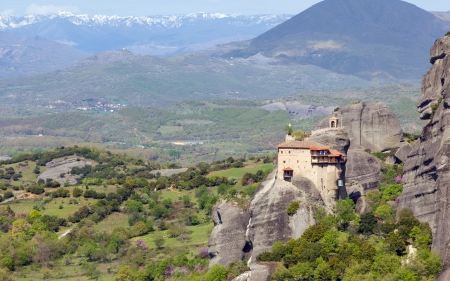 View of St  Nicholas Anapausas monastery, Meteora, Greece  photo