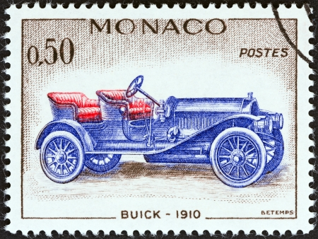 postes: MONACO - CIRCA 1961  A stamp printed in Monaco from the  Veteran Cars   issue shows Buick, 1910, circa 1961