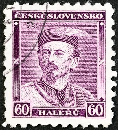 CZECHOSLOVAKIA - CIRCA 1933  A stamp printed in Czechoslovakia shows art historian Dr  Miroslav Tyrs, circa 1933