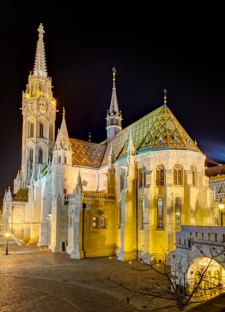 Matthias Church at night, Budapest, Hungary photo