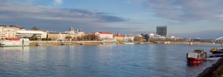 Panorama of Bratislava, capital of Slovakia photo