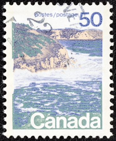 canada stamp: CANADA - CIRCA 1972  A stamp printed in Canada shows seashore, eastern Canada, circa 1972   Editorial
