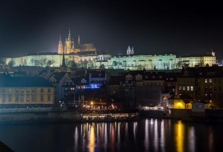 Prague castle at night, Czech Republic  photo