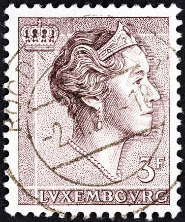 LUXEMBOURG - CIRCA 1960  A stamp printed in Luxembourg shows Grand Duchess Charlotte, circa 1960