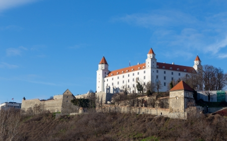 Bratislava castle, dominant feature of the city, Slovakia