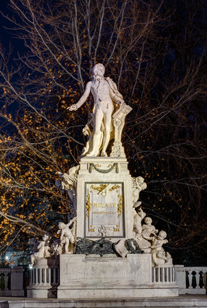 Mozart statue, Vienna, Austria photo