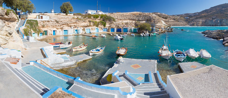 Mantrakia, Milos island, Cyclades, Greece  Stock Photo