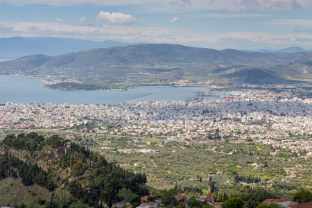 magnesia: Volos city view from Pelion mount, Greece