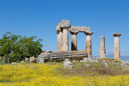 Temple of Apollo, Ancient Corinth, Greece photo