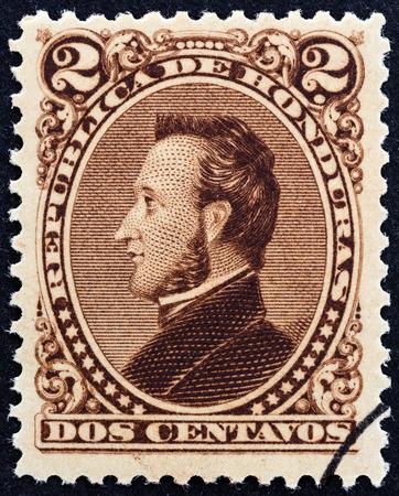 HONDURAS - CIRCA 1878  A stamp printed in Honduras shows President Francisco Morazan, circa 1878