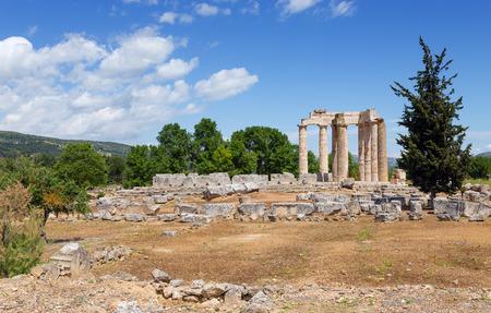 Temple of Zeus in ancient Nemea, Peloponnese, Greece  photo