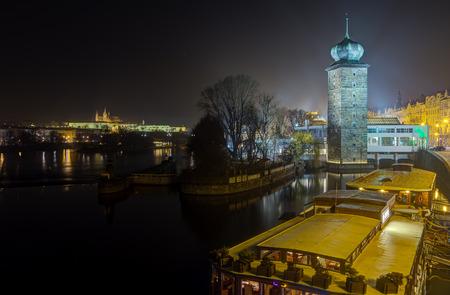Sitka Water Tower on Vltava river, Prague, Czech Republic photo