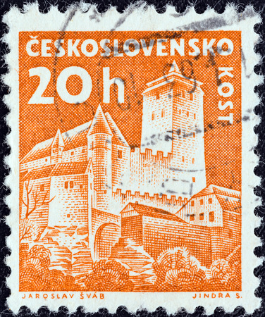 CZECHOSLOVAKIA - CIRCA 1960  A stamp printed in Czechoslovakia from the  Czechoslovak Castles  issue shows Kost castle, circa 1960
