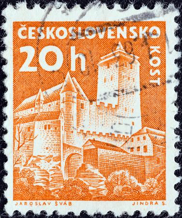 czechoslovak: CZECHOSLOVAKIA - CIRCA 1960  A stamp printed in Czechoslovakia from the  Czechoslovak Castles  issue shows Kost castle, circa 1960   Editorial