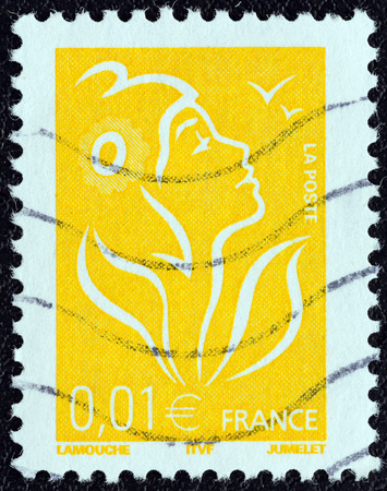 phrygian: FRANCE - CIRCA 2005  A stamp printed in France shows Marianne, circa 2005   Editorial