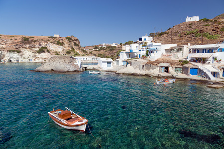 Goupa fishing settlement, Kimolos island, Cyclades, Greece photo