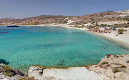 Prassa beach, Kimolos island, Cyclades, Greece Zdjęcie Seryjne